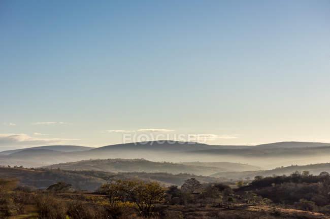 Vista panorâmica da paisagem nebulosa, Bahia, Brasil — Fotografia de Stock