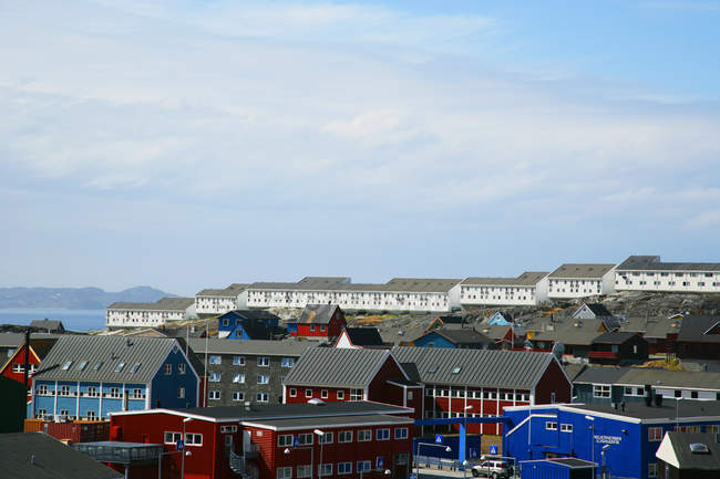 Scenic view of Buildings in Nuuk, Greenland — Stock Photo