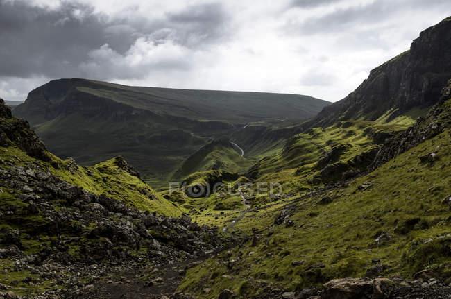 Zitternder Erdrutsch, Traber, Insel Skye, Schottland, Großbritannien — Stockfoto