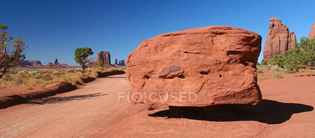 Живописный вид на монумент вандалам, Аризона, Америка, США — стоковое фото