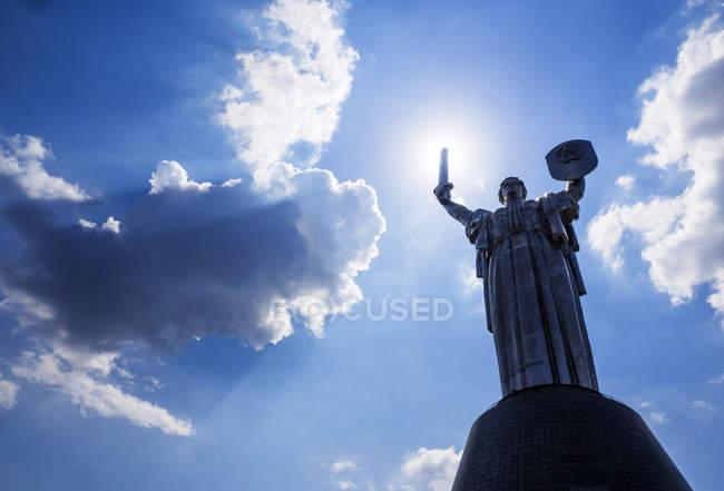 Low angle view of Motherland Monument, Kiev, Ukraine — Stock Photo