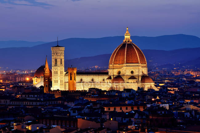 Scenic view of Il Duomo di Firenze, Florence, Tuscany, Italy — Stock Photo