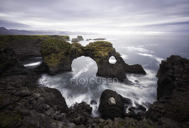 Scenic view of snaefellsness Peninsula coastline, Iceland — Stock Photo