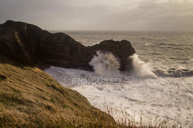 Scenic view of severe storm at Durdle Door, Dorset, UK — Stock Photo