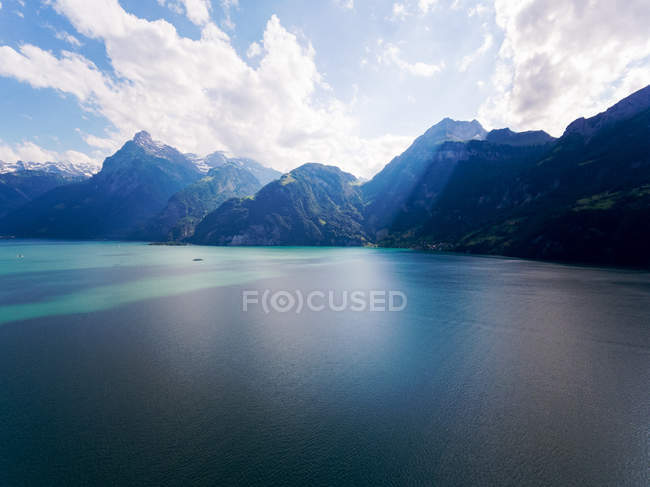 Scenic view of lake lucerne and mountains, Switzerland — Stock Photo