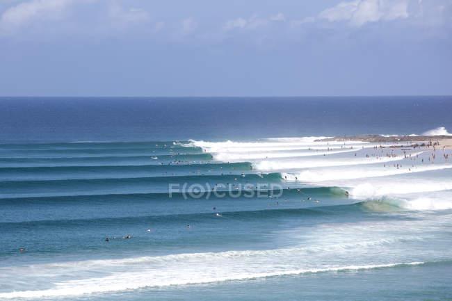 Snapper Rocks surf break, Gold Coast, Queensland, Australia — Stock Photo