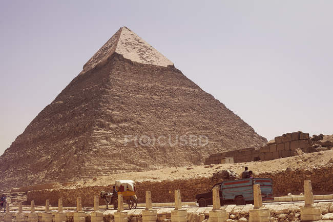 Scenic view of Khafra Pyramid, Giza, Egypt — Stock Photo