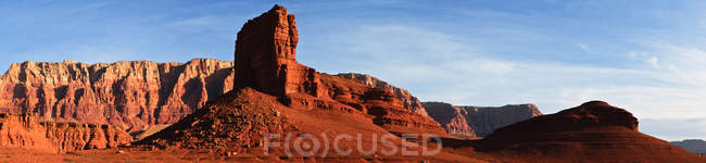 Vista panorâmica das famosas falésias de Vermillion, Arizona, EUA — Fotografia de Stock