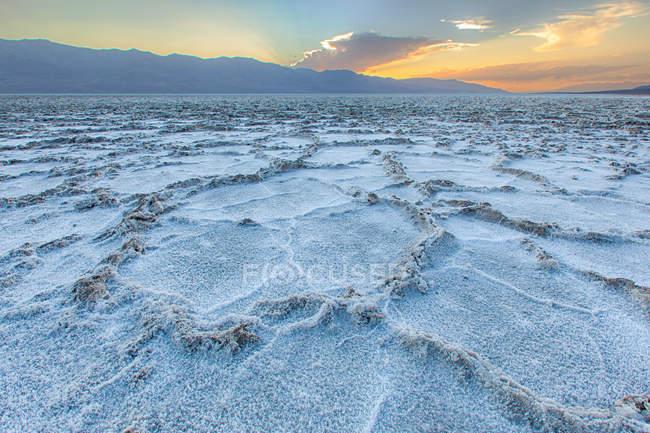 Malerische Aussicht auf Badwater Basin, Death Valley Nationalpark, Kalifornien, Amerika, Usa — Stockfoto