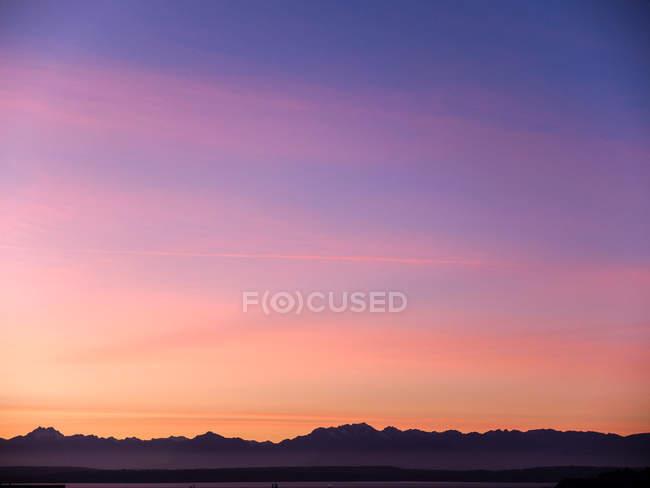 Magnifique coucher de soleil sur Elliot Bay — Photo de stock
