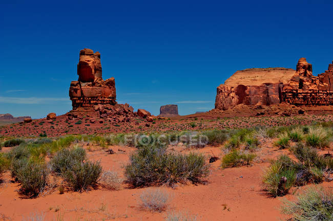 Malerische Aussicht auf Fels-Formationen, Mystery Valley, Arizona, America, Usa — Stockfoto