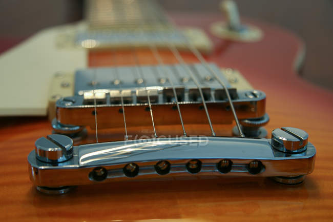 Close-up of an electric guitar — Stock Photo