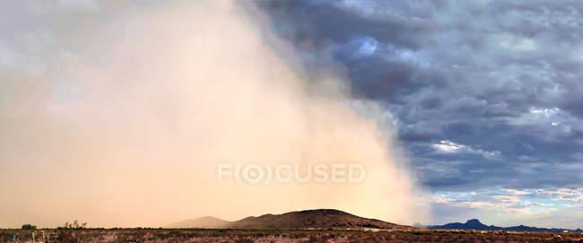 Vista panoramica di tempesta di sabbia, Arizona, Stati Uniti d'America — Foto stock