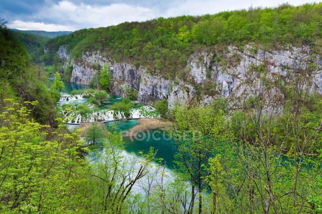 Scenic view of Plitvice Lakes National Park, Croatia — Stock Photo