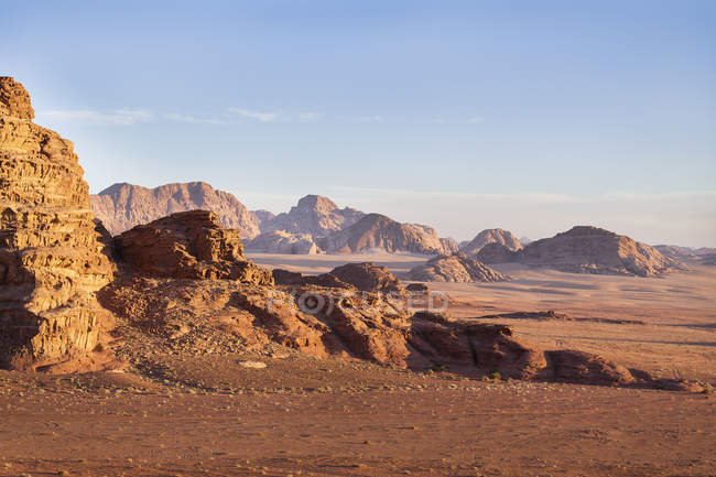 Живописный вид величественных Вади ландшафта, Оман — стоковое фото