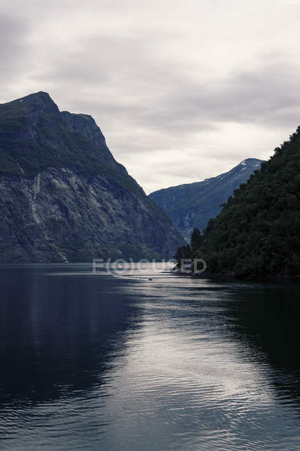 Beautiful scenic view of fjord at Norway — Stock Photo
