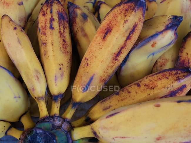 Крупним планом стиглі банани смачно, повний кадр — стокове фото