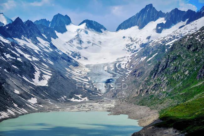 Vue panoramique sur le glacier Oberaar, Berne, Suisse — Photo de stock