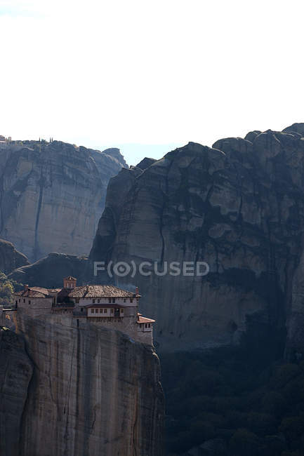Scenic view of meteora monastery, Plain of Thessaly,  Greece — Stock Photo