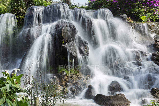 Beautiful majestic waterfall at West Java, Indonesia — Stock Photo