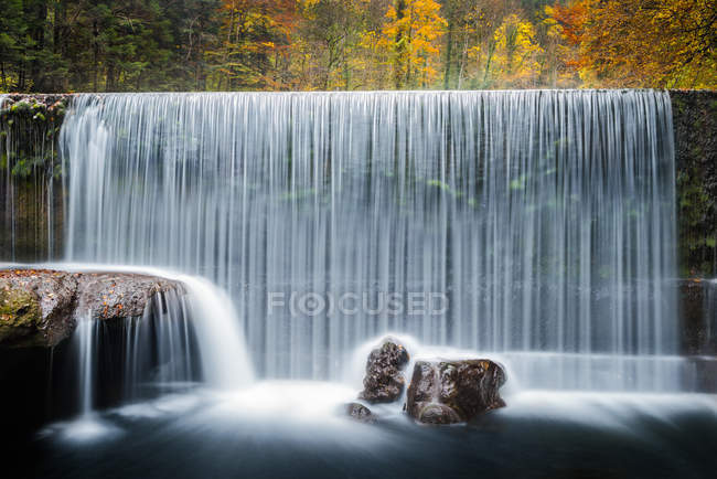 Majestic view of waterfall, Les Gorges de lareuse, Switzerland — Stock Photo
