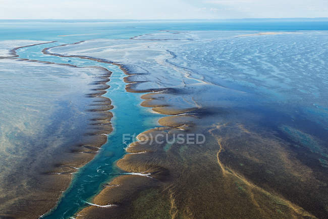 Vista aérea de Montgomery Reef, Kimberley, Australia - foto de stock