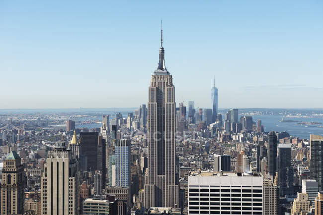 Vista panorâmica de Manhattan skyline, Nova York, EUA — Fotografia de Stock