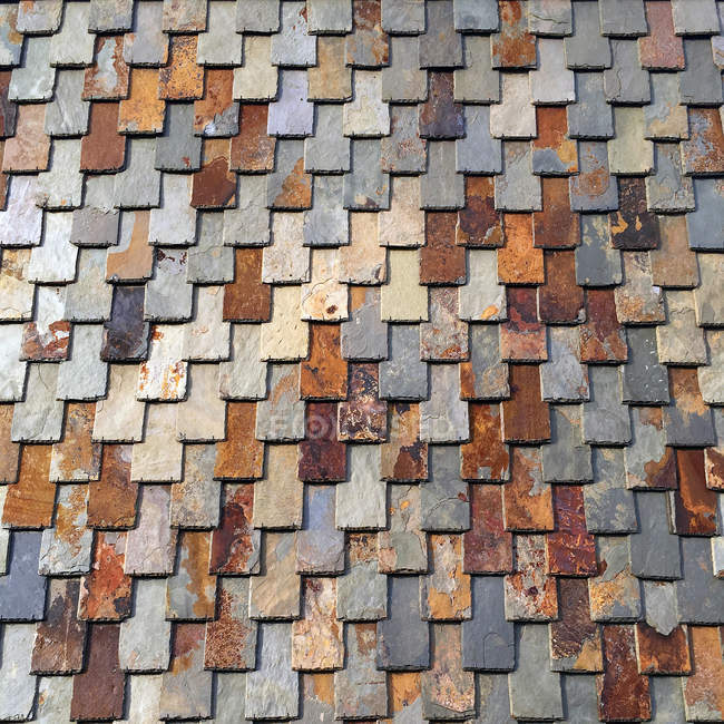 Close-up view of slate tiles on a roof — Stock Photo