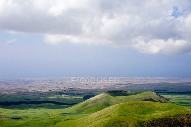 Vue panoramique sur les collines verdoyantes — Photo de stock