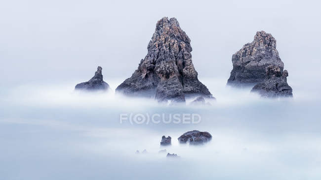 Scenic view of rocks in the sea, Cantabria, Spain — Stock Photo