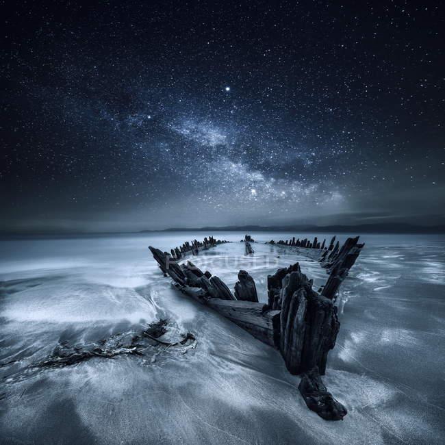 Корабельну нижче зірок, Glenbeigh, Керрі, Мюнстер, Ірландія — стокове фото