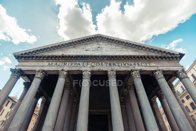 Vue panoramique sur le majestueux Panthéon, Rome, Italie — Photo de stock