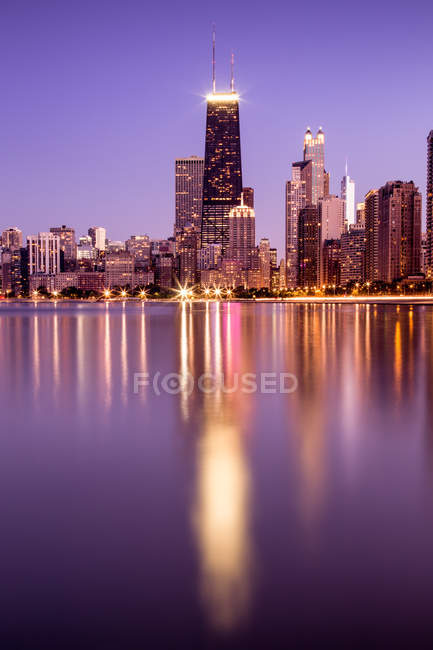 Malerischer Blick auf Chicago Skyline, illinois, Amerika, USA — Stockfoto
