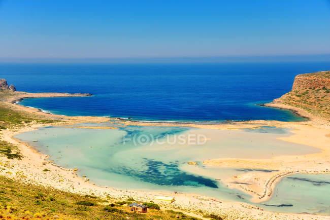 Vista panorâmica de balos beach, Gramvousa, Creta, Grécia — Fotografia de Stock
