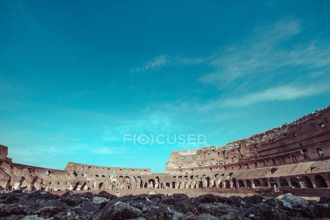 Vue panoramique sur le Colisée Romain, Rome, Italie — Photo de stock