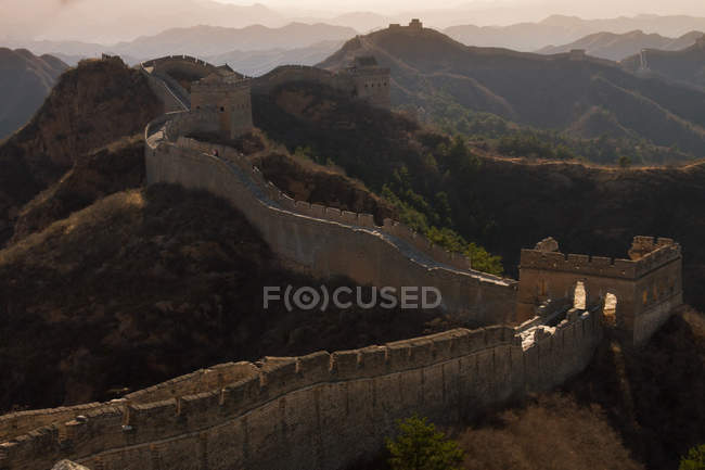 Scenic view of Great Wall of China, Jinshanling, China — Stock Photo