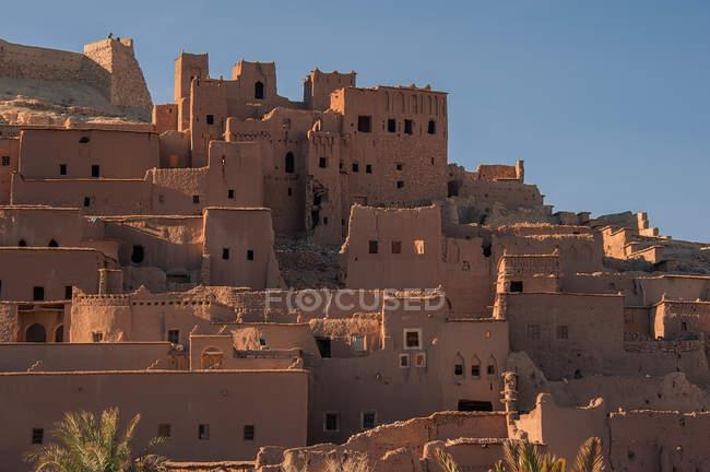 Vista panorâmica da aldeia berbere, Ait-Ben-Haddou, Marrocos — Fotografia de Stock