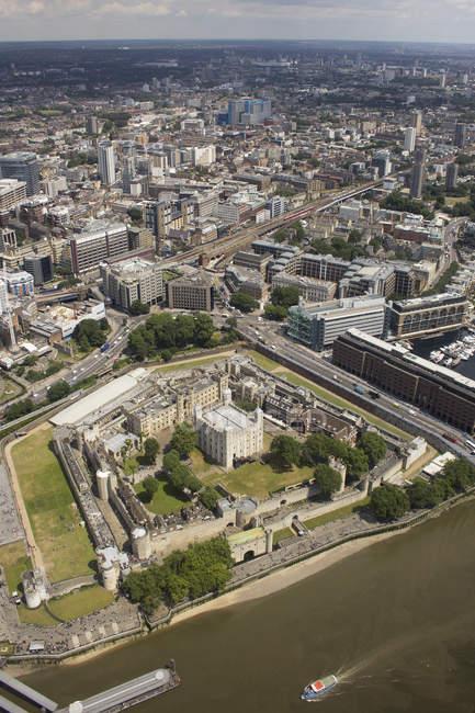 Vue aérienne de la tour de Londres, Angleterre, RU — Photo de stock