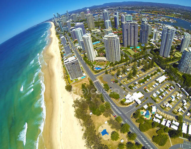 Vue aérienne de Surfers Paradise, Gold Coast, Australie — Photo de stock