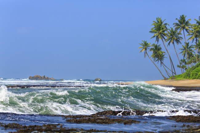 Vista panoramica sulla spiaggia di Galle, Sri Lanka — Foto stock