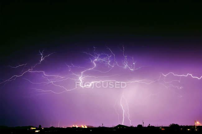 Живописный вид на муссонный шторм, Аризона, США — стоковое фото