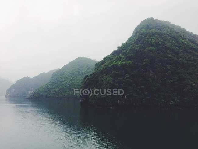Scenic view of majestic limestone islands — Stock Photo
