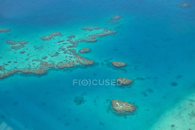 Beautiful aerial view of reef at Fiji — Stock Photo
