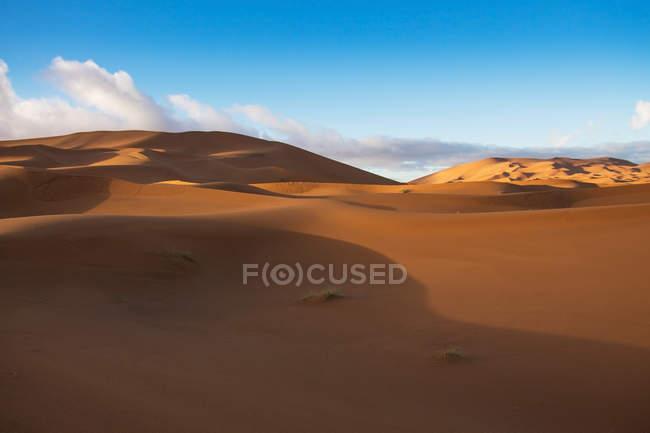 Malerische Aussicht auf Sanddünen in der Wüste Sahara, Marokko — Stockfoto