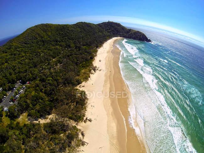 Malerischer Blick auf Talgstrand, Byron Bay, Australien — Stockfoto