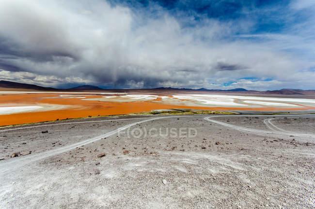 Scenic view of landscape at Laguna Colorada, Altiplano, Bolivia — Stock Photo