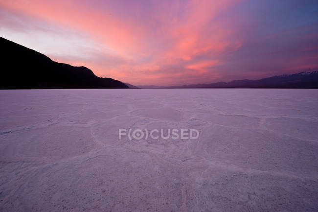 Scenic view of sunset at Death Valley National Park, California, America, USA — Stock Photo