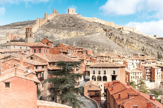 Spain, Aragon, Teruel Province, Albarracin, Medieval walled town — Stock Photo
