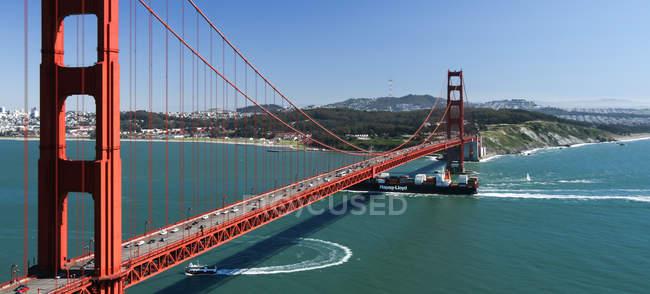 Мальовничий вид на Золоті ворота міст, США, Каліфорнія, Сан-Франциско — стокове фото
