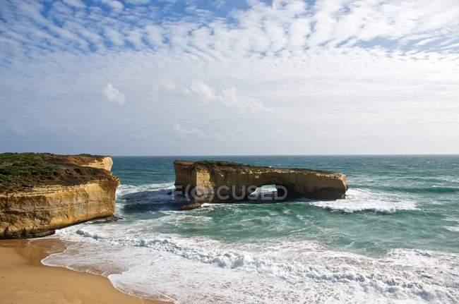 Scenic view of rock formation at seashore, Australia — Stock Photo